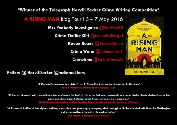 A Rising Man blog tour poster