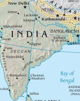 Calcutta map